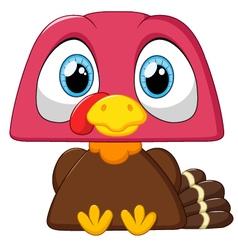 Cute turkey cartoon vector
