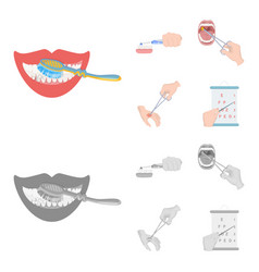 dental care wound treatment and other web icon in vector image