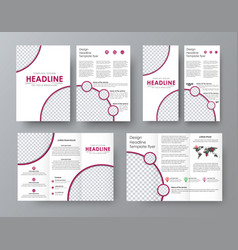 design a folding brochure front and back of the vector image