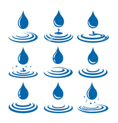 drops with ripple vector image