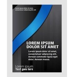 elegant brochure flyer design vector image
