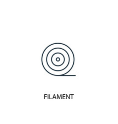 Filament concept line icon simple element vector