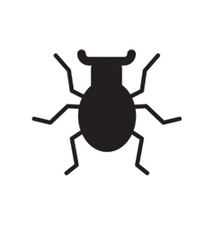 Flat icon in black and white style beetle insect vector