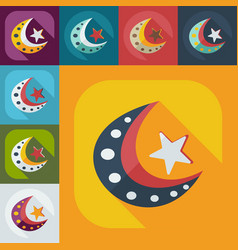 Flat modern design with shadow icons islam vector