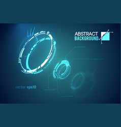 Futuristic abstract template vector