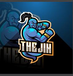 Genie esport mascot logo design vector