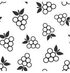 grape fruits sign icon seamless pattern vector image