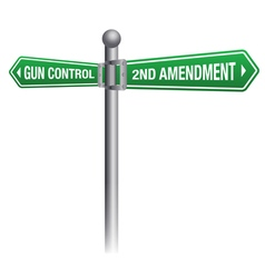 Gun Control Concept vector image