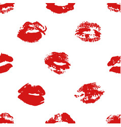Hand drawn fashion lipstick kiss vector