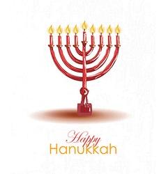 Hand drawn Hanukkah card template vector image