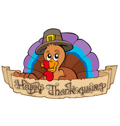 happy thanksgiving theme 1 vector image