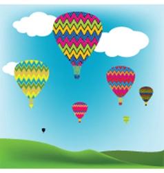 Hot air balloons vector