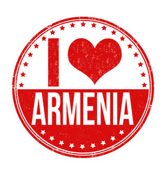 I love armenia stamp vector