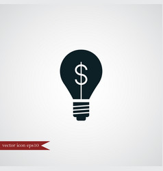 idea bulb icon simple vector image