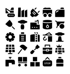 Industrial Colored Icons 10 vector image