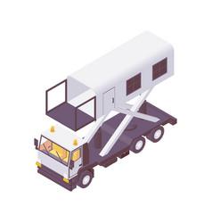 isometric hi lift catering truck ambulance lift vector image