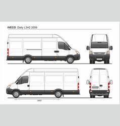 Iveco daily l3h2 2009 cargo delivery van vector