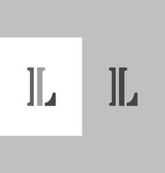 letter l logo vector image