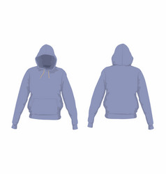 Mens purple hoodie vector