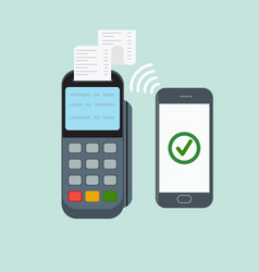 nfc payment contactless payment with vector image