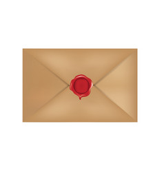 old mail with red wax stamp vector image
