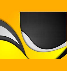 orange black grey abstract wavy corporate vector image