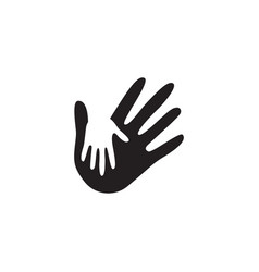 palm hand graphic design template isolated vector image