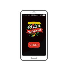 pizza restaurant order app vector image