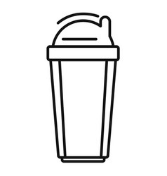 Plastic shaker bottle icon outline style vector
