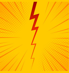 pop art comic background lightning blast halftone vector image