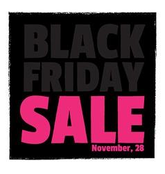 Poster SaleTypography Black friday vector image vector image