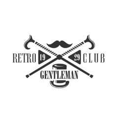 Retro Club Label Design vector image