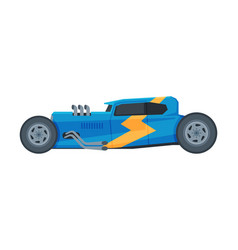 retro style blue car old racing sports automobile vector image