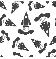 rocket seamless pattern background business flat vector image