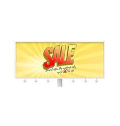 sale billboard in style pop art comics book vector image