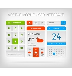 set mobile user interface and icons for app or vector image