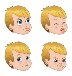 Set of cute little bully boy vector
