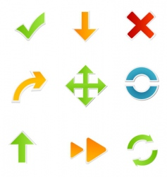 shapes of arrow vector image