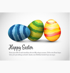 simple happy easter card template vector image