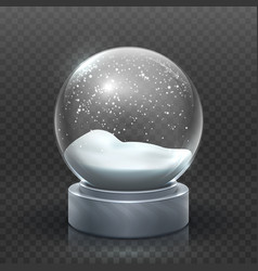 snow globe christmas holiday snowglobe empty vector image