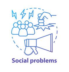 Social problems concept icon violence vector