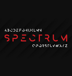 Spectrum regular futuristic decorative sans serif vector