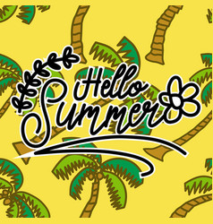 Summer frame text template background vector