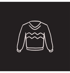 Sweater sketch icon vector image