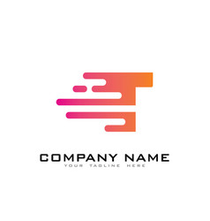 T speed letter logo icon design vector