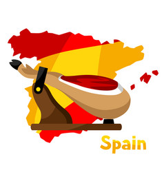 traditional spanish food jamon pork vector image