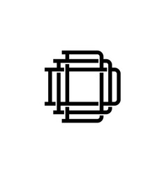triple d monogram ddd letter hipster lettermark vector image