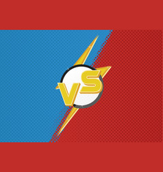 versus screen blue and red vector image