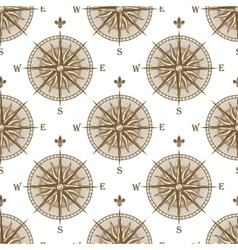 Vintage compass sign seamless pattern vector