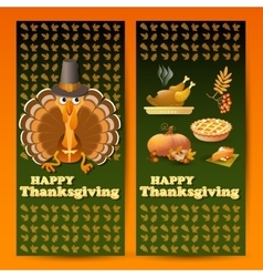 with autumn and Thanksgiving vector image